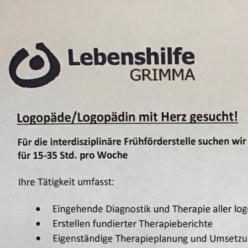 Logo/Bild von Logopädische Praxis der Lebenshilfe Grimma e.V.